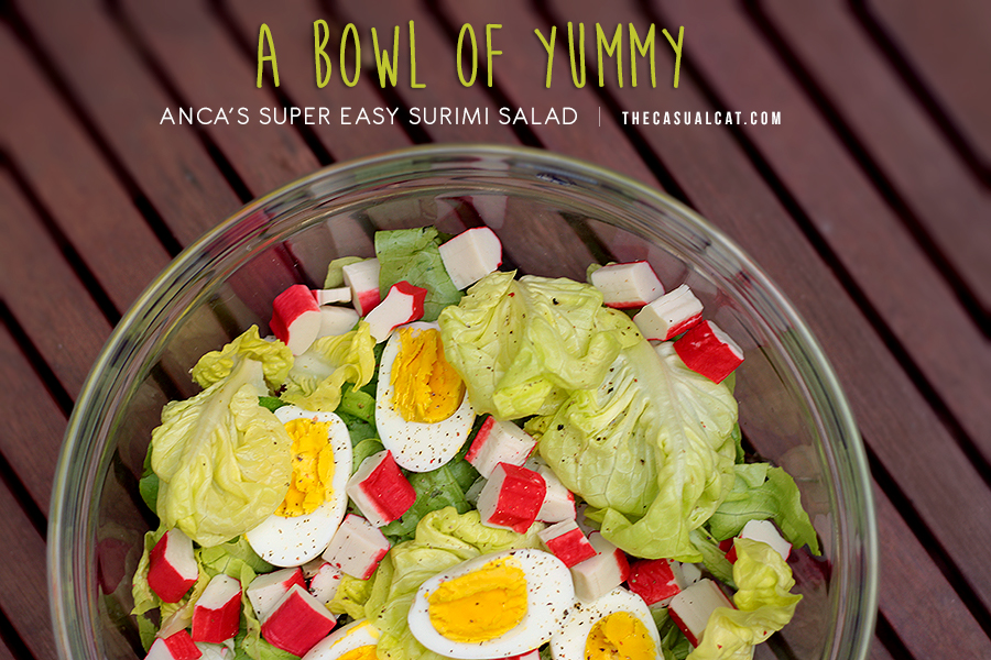 super easy surimi salad