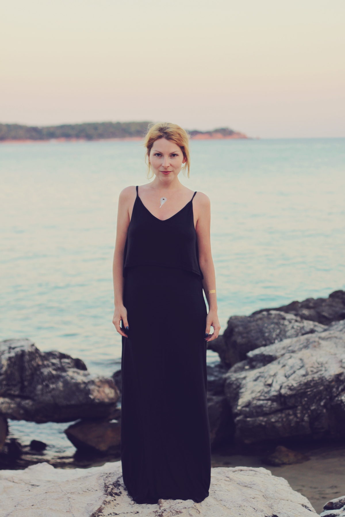 long black beach dress