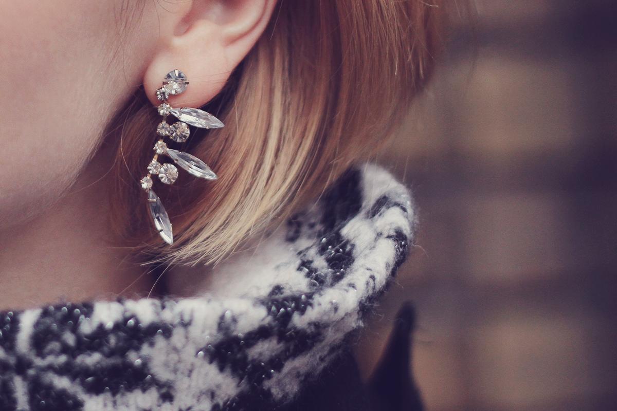 winter crystal earrings