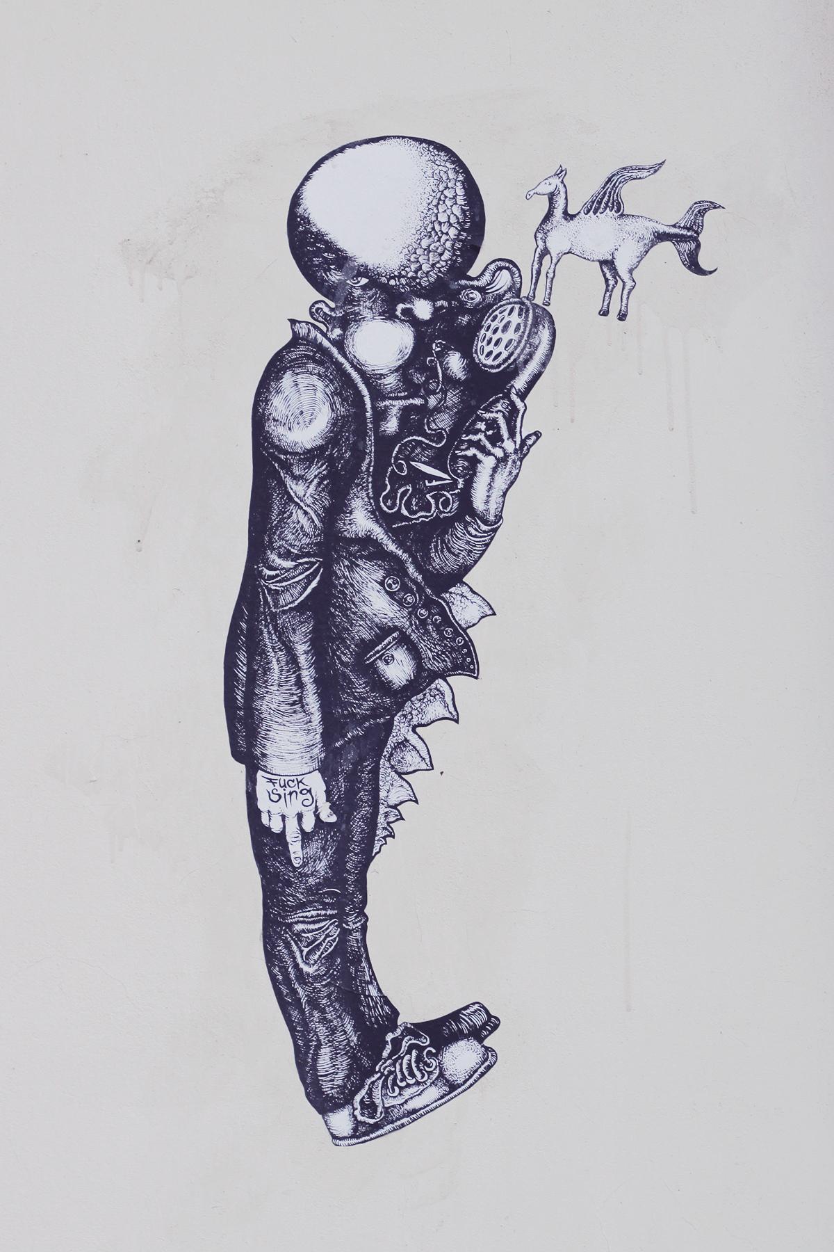wall drawing - szeged hungary