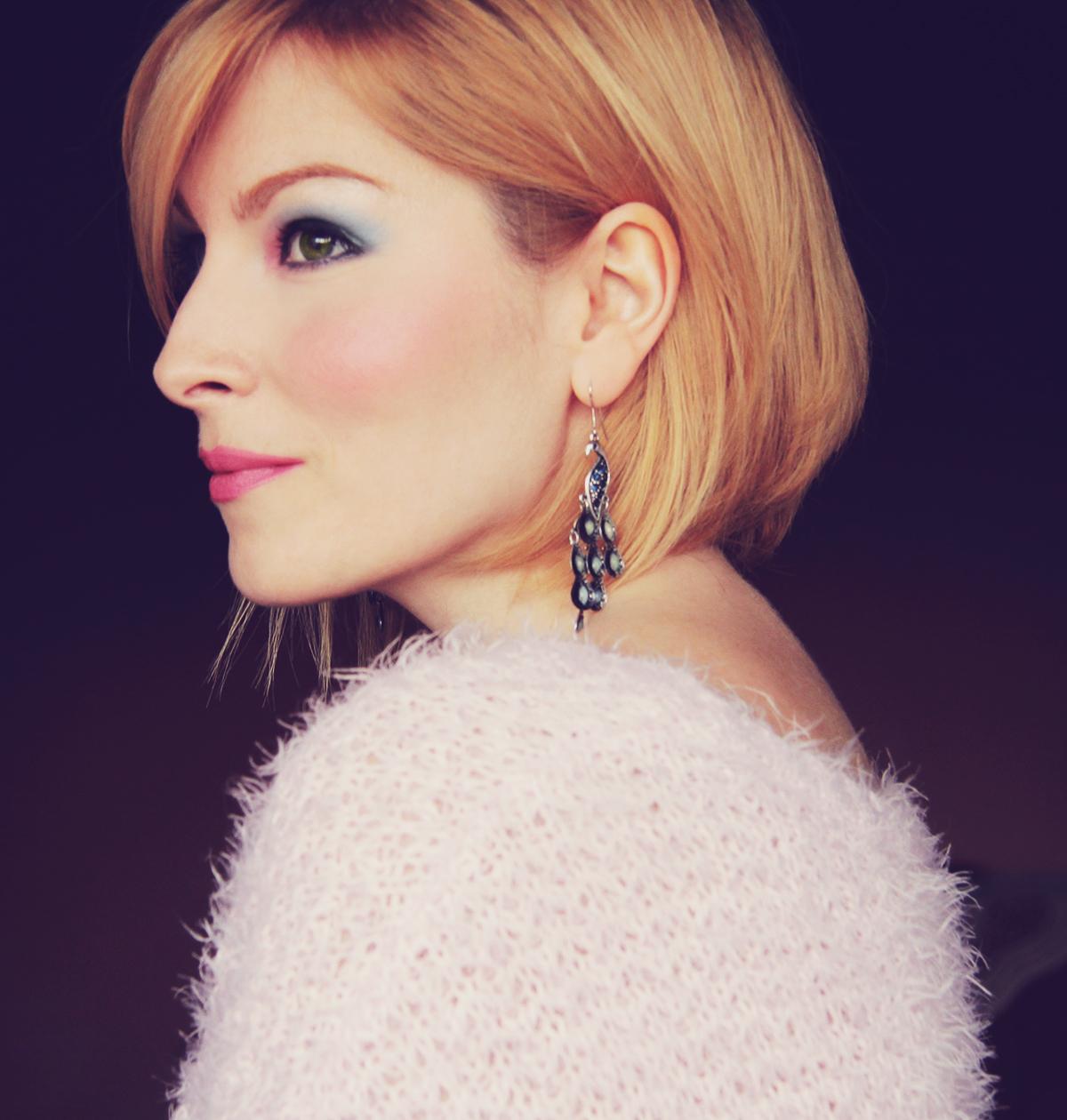 rose quartz and serenity make-up_profile view