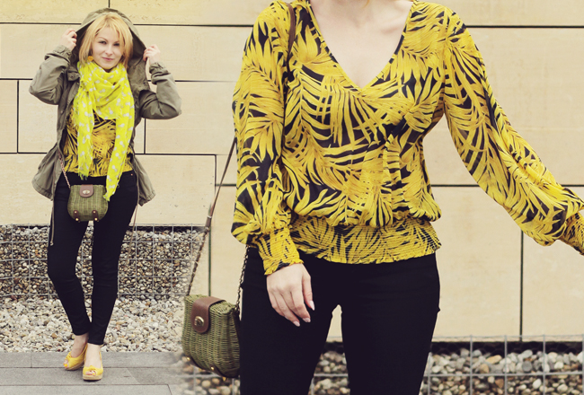 casual yellow look