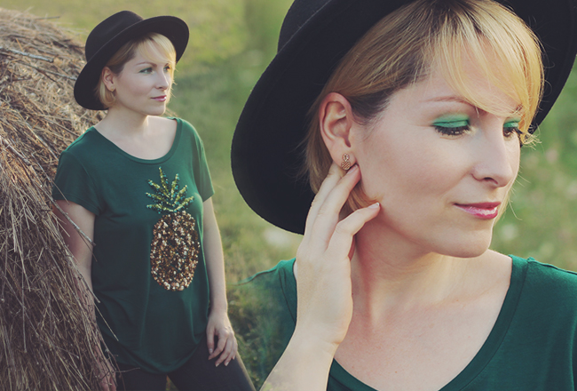 sequined pineapple t-shirt