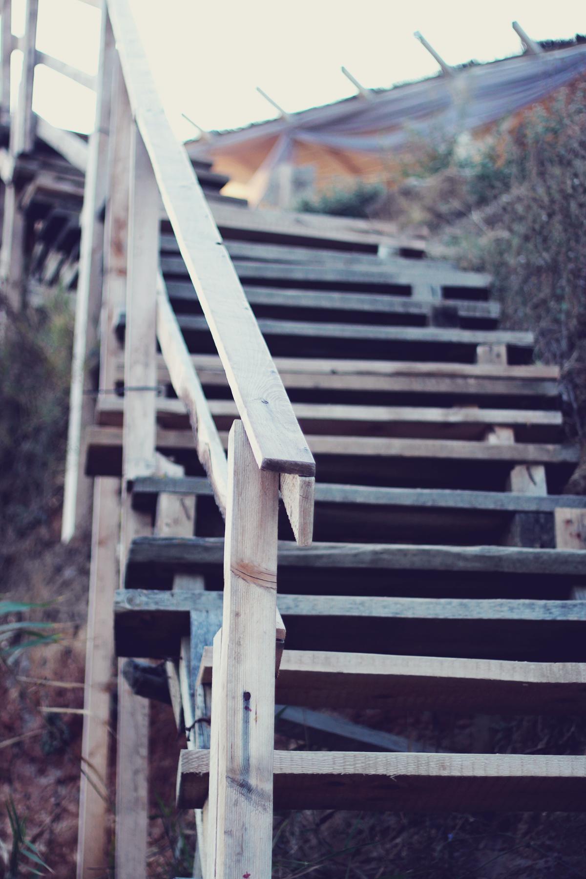 stairs, beach, vama veche