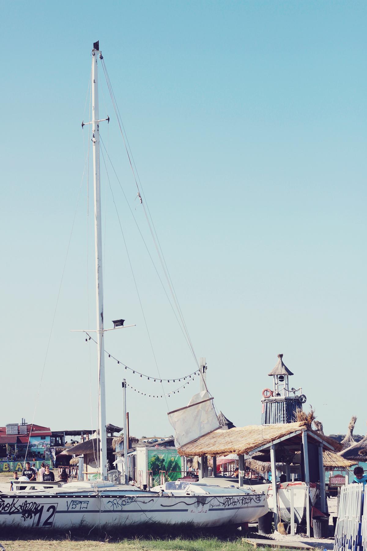 boat, old, beach, vama veche