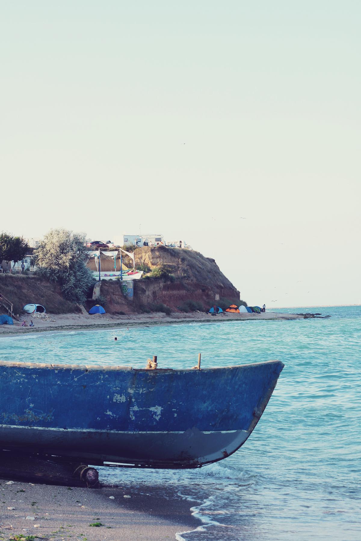 fishing boat, vama veche, beach