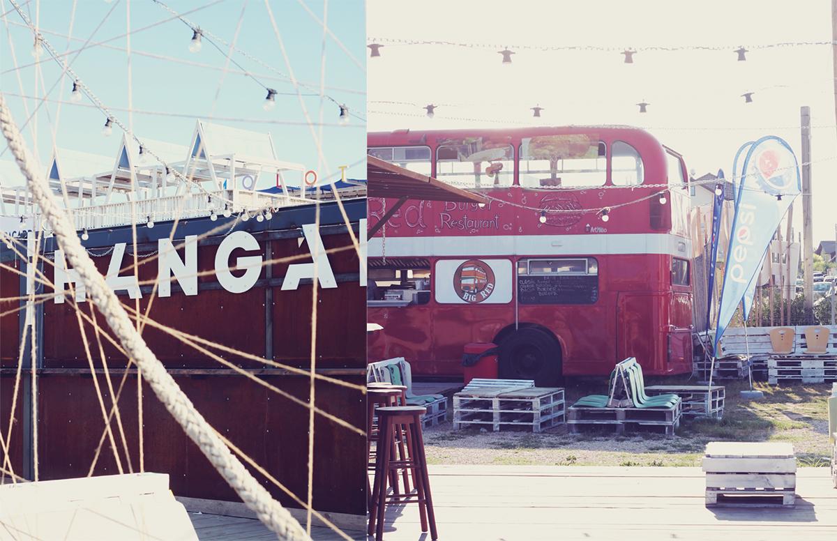 hangar, vama veche, old london bus