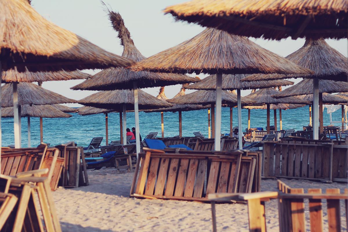 beach, sunset, vama veche