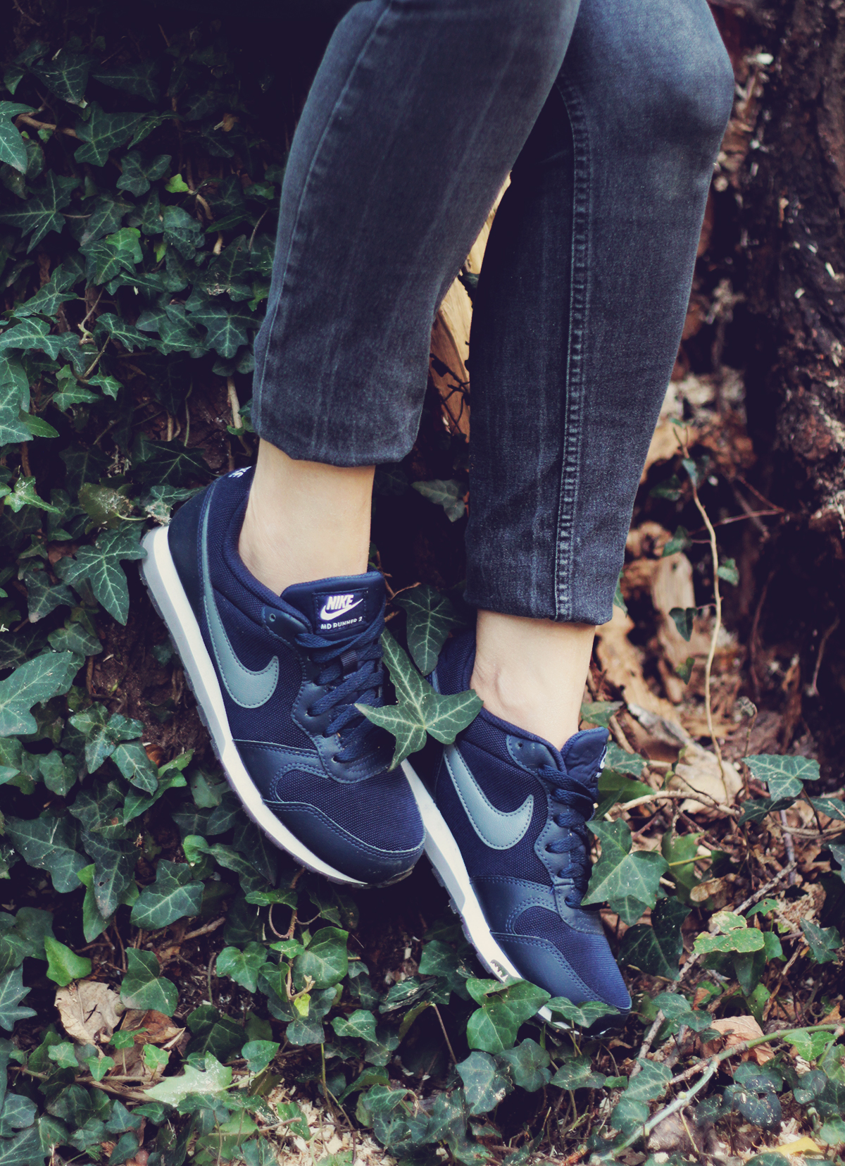 nike runners, jeans