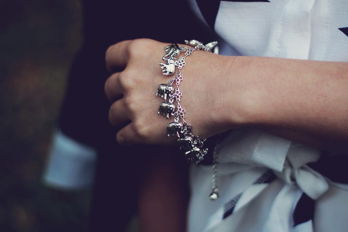 sammydress elephants charm bracelet, anklet