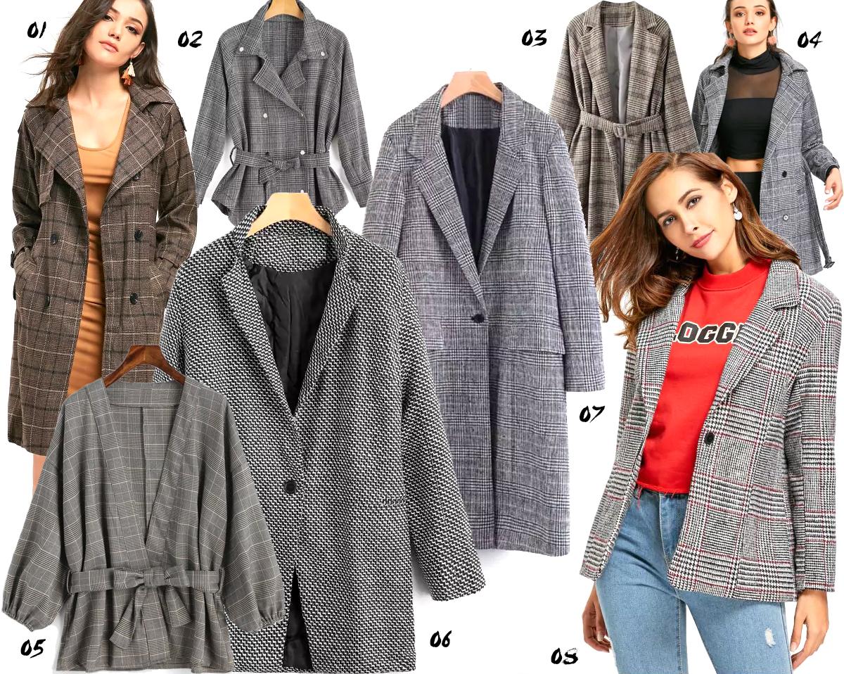 plaid coats wishlist