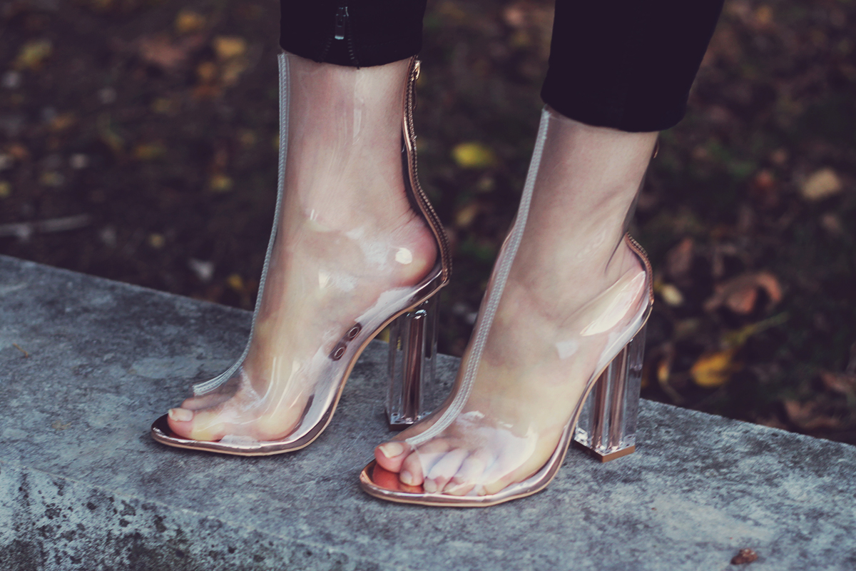 rosegal clear transparent boots