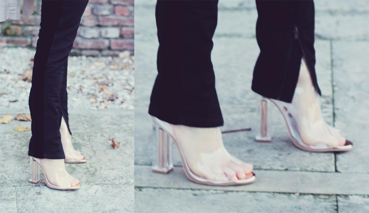 stella mccartney pants, rosegal clear transparent boots