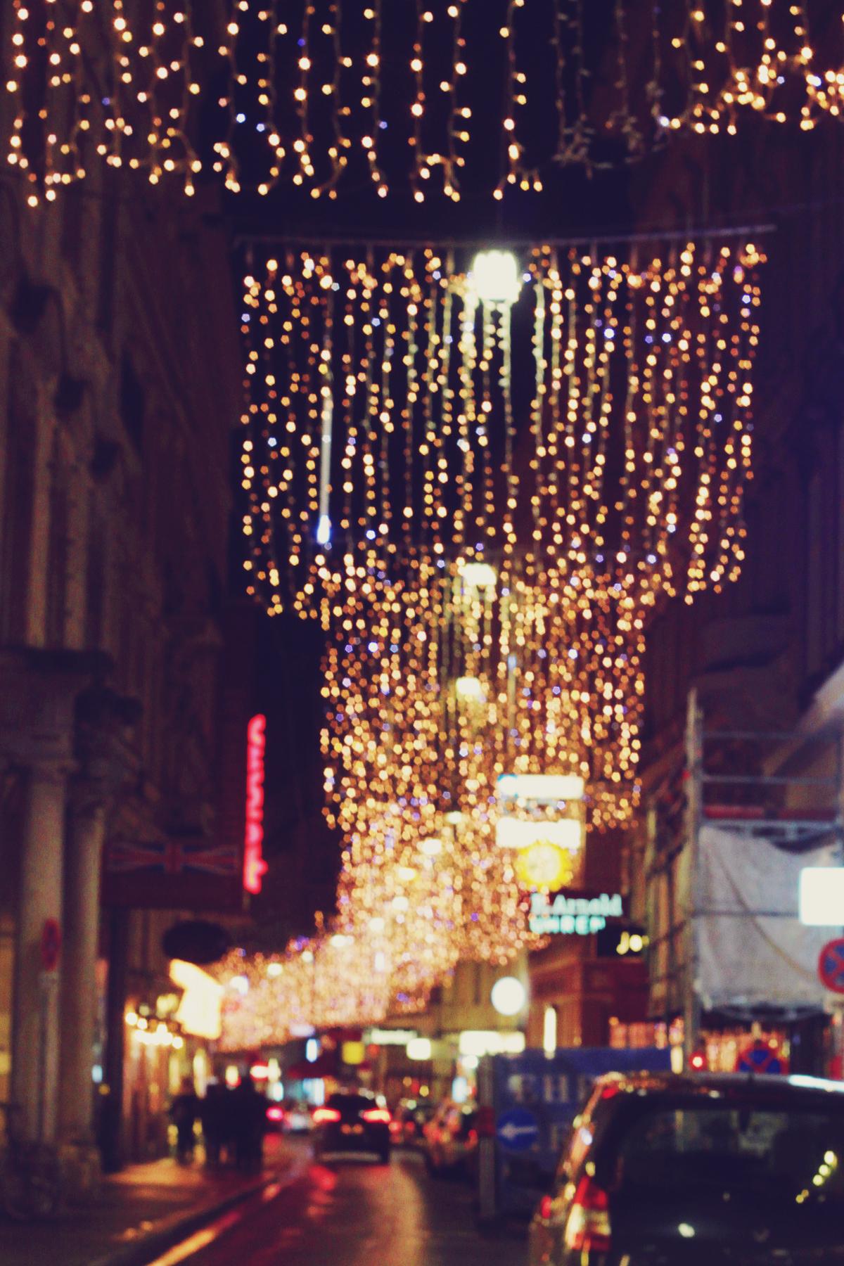 Vienna, travel, night lights, Christmas lights