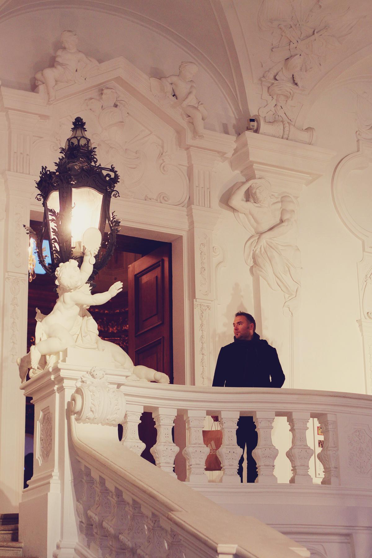 inside Belvedere Museum, Vienna, travel