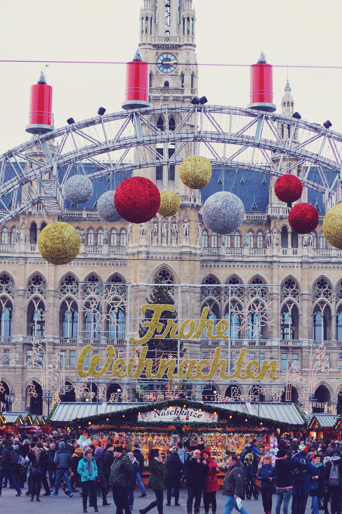 Vienna Christmas Market, Rathaus, winter, travel
