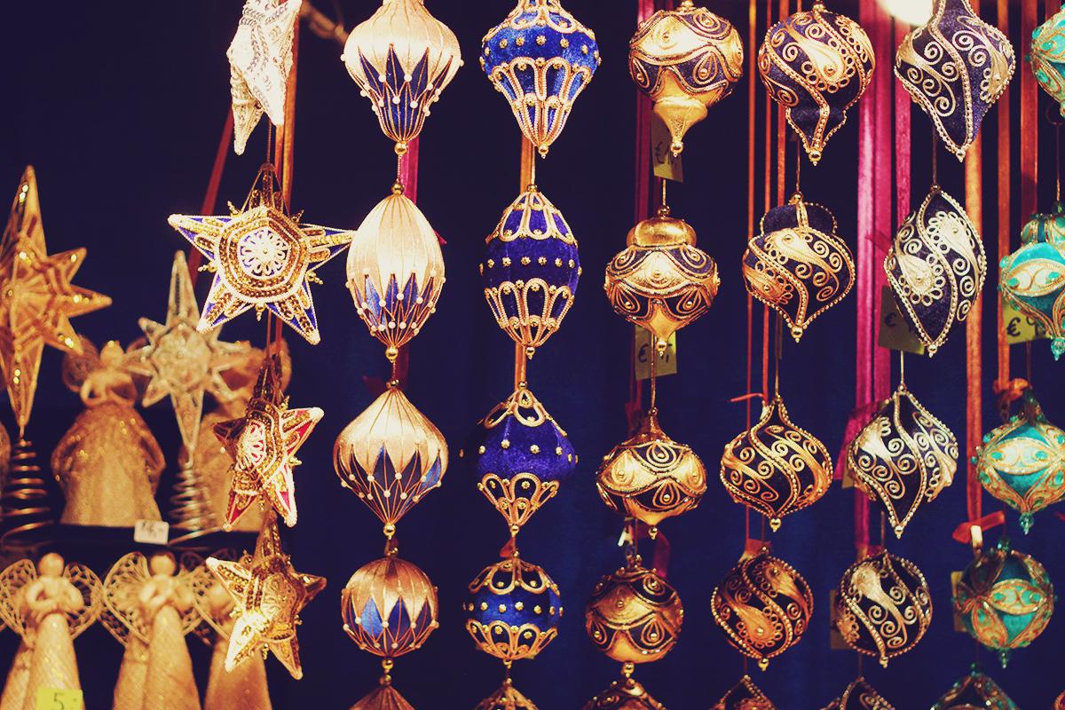Vienna Christmas Market, beautiful globes