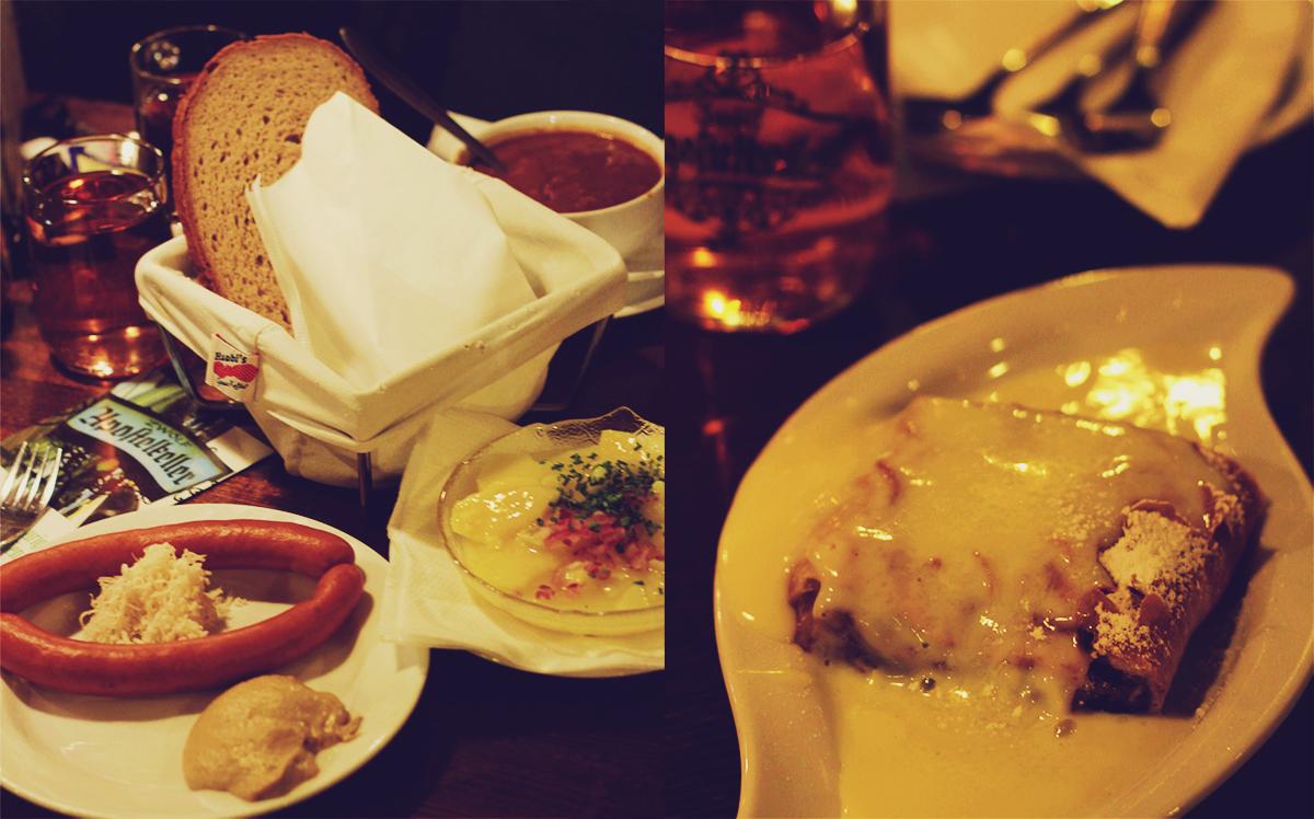 Zwölf Apostelkeller, oldest cellar, Vienna, travel, dinner, sausages, apfelstrudel